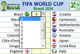 fifa world cup football 2014 schedule excel