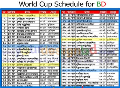 Bangladesh time World cup ScheduleX Fifa World cup Schedule Bangladesh time