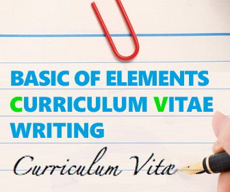 Basic Resume curriculum vitae CV writing of elements