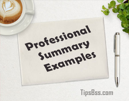 Professional Summary Examples - Tips Tricks & Tutorial