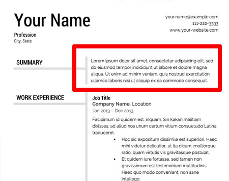 image of - Resume Template Format