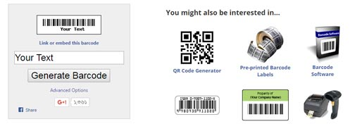 Free barcode online