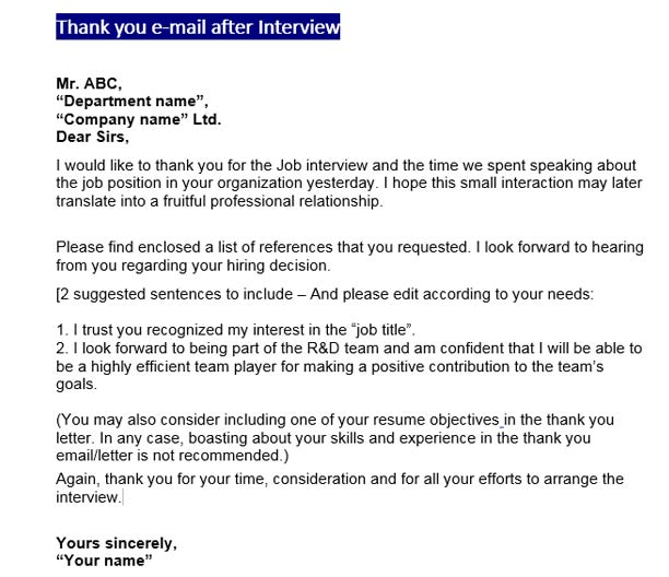 Follow Up Email After Interview Tips Tricks Tutorial